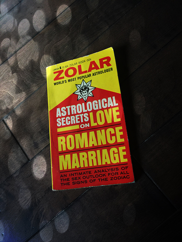 Vintage Occult Books zolar astrological secrets on love romance and marriage