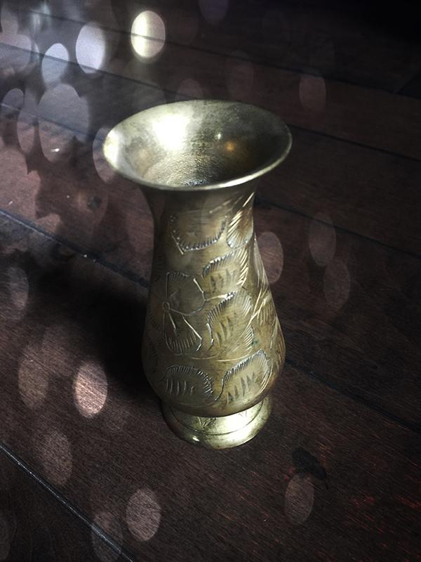 Vintage Brass Altar Vase