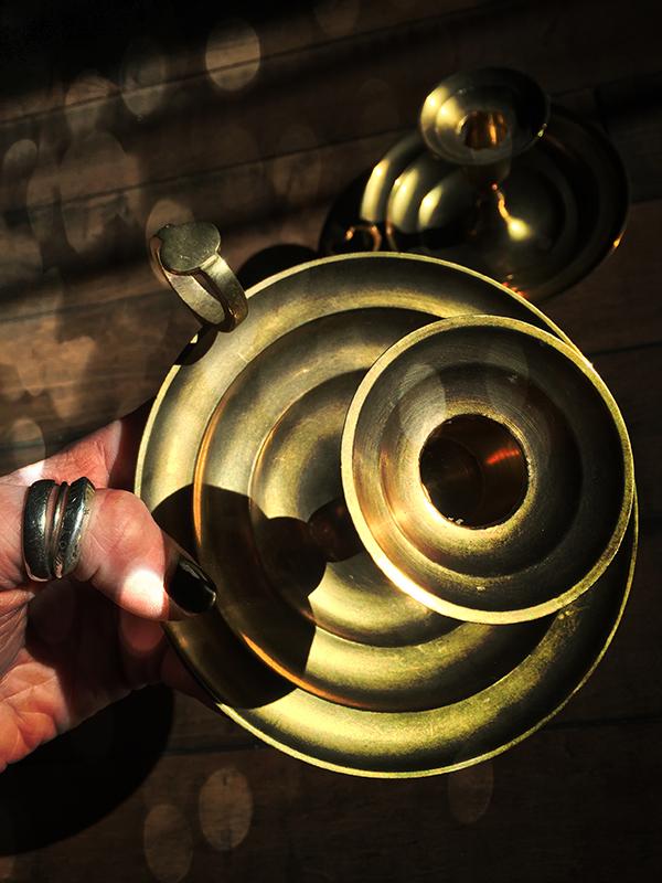 Vintage Brass Chamberstick