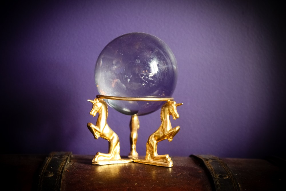 The Last Unicorn Gazing Ball