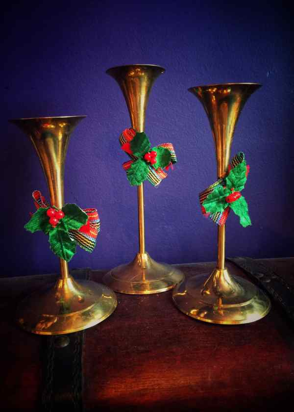 Vintage Yule Candle Holder