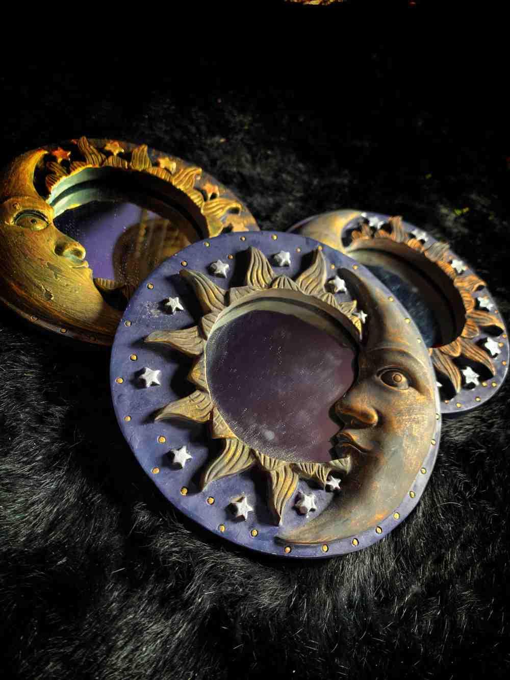 Moon Scrying Mirror Vintage