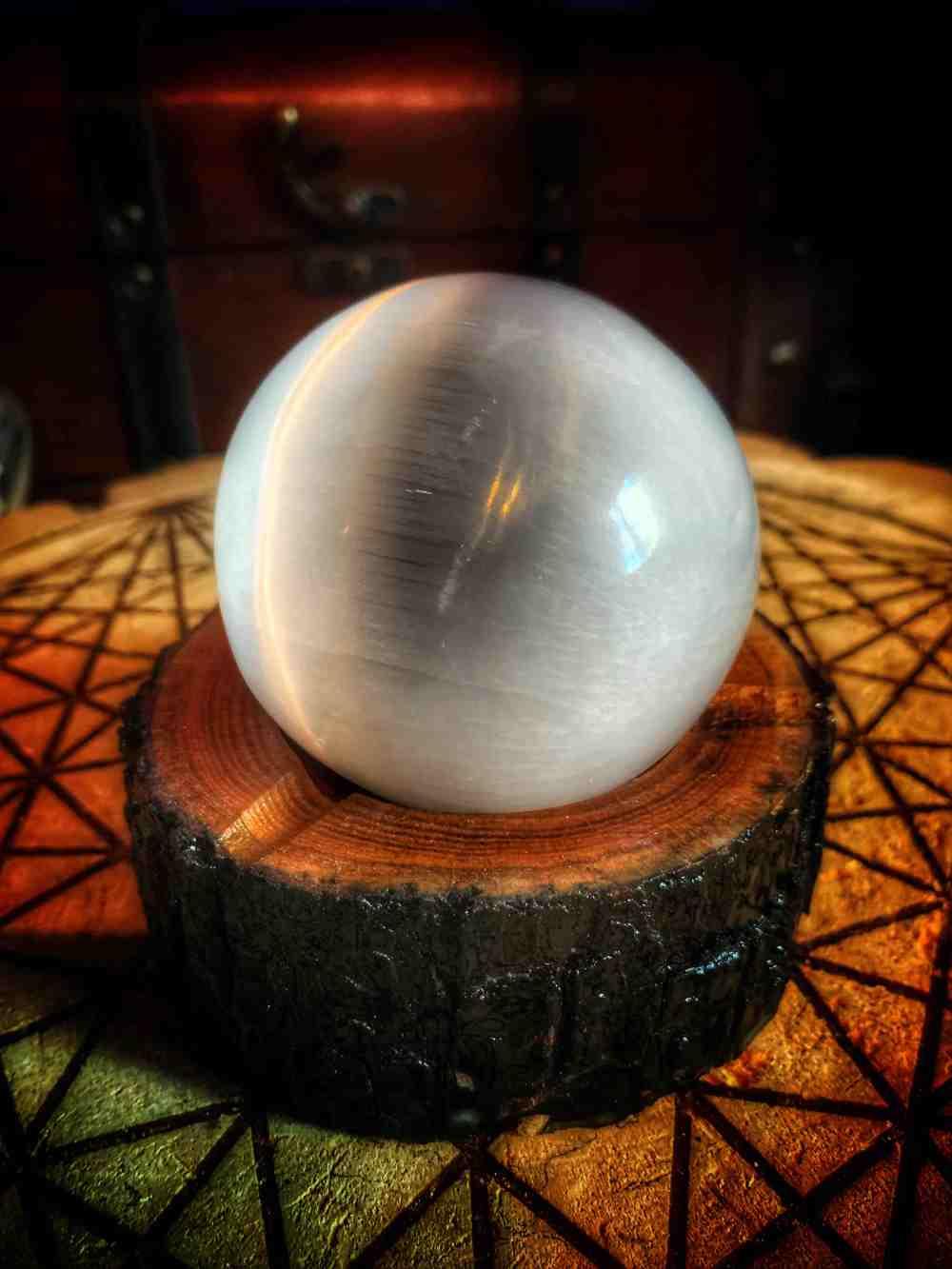 Sphere Stand Wood Cookie Vintage