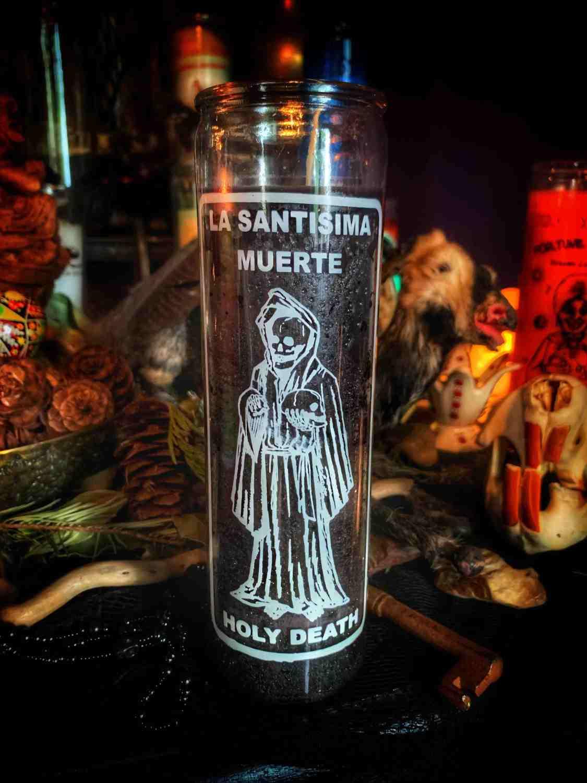 Santa Muerte Vigil Candle