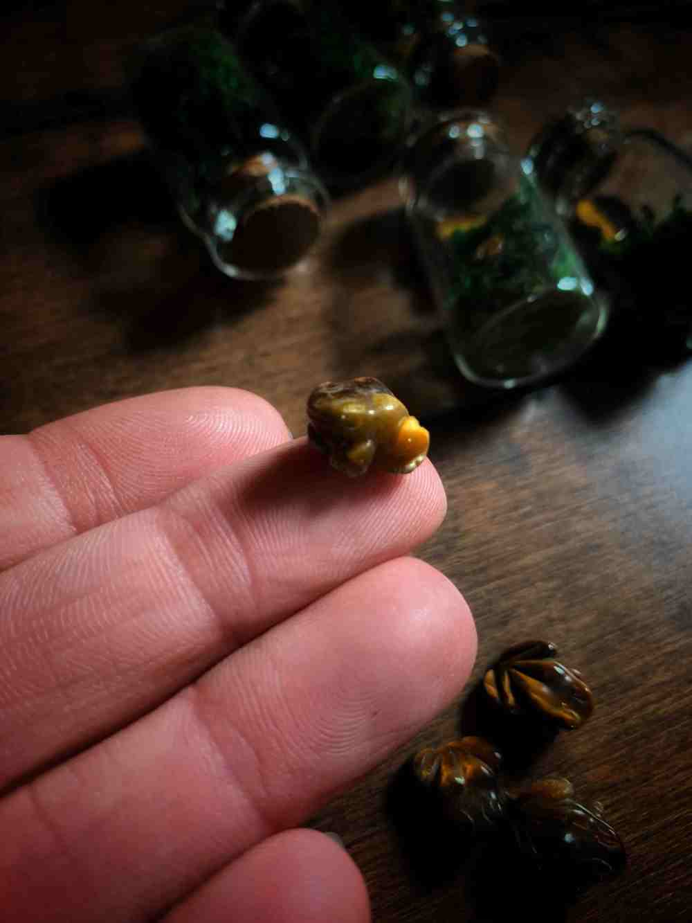 Tigers Eye Witches Toad Amulet