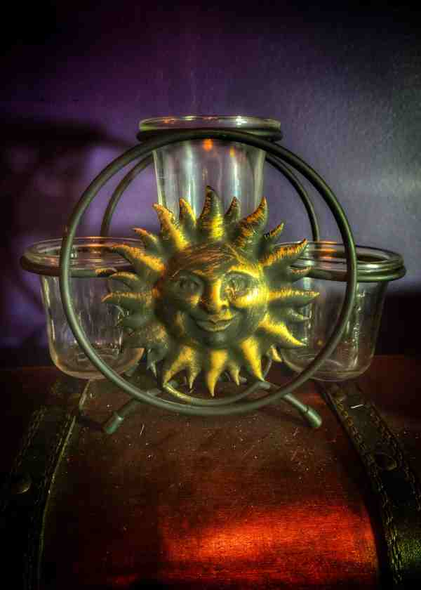 Sun & Moon Vintage Candle Holder Set