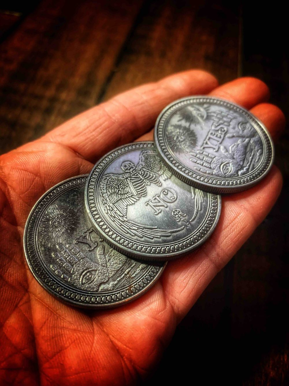 Fortune Telling Palmistry Coin