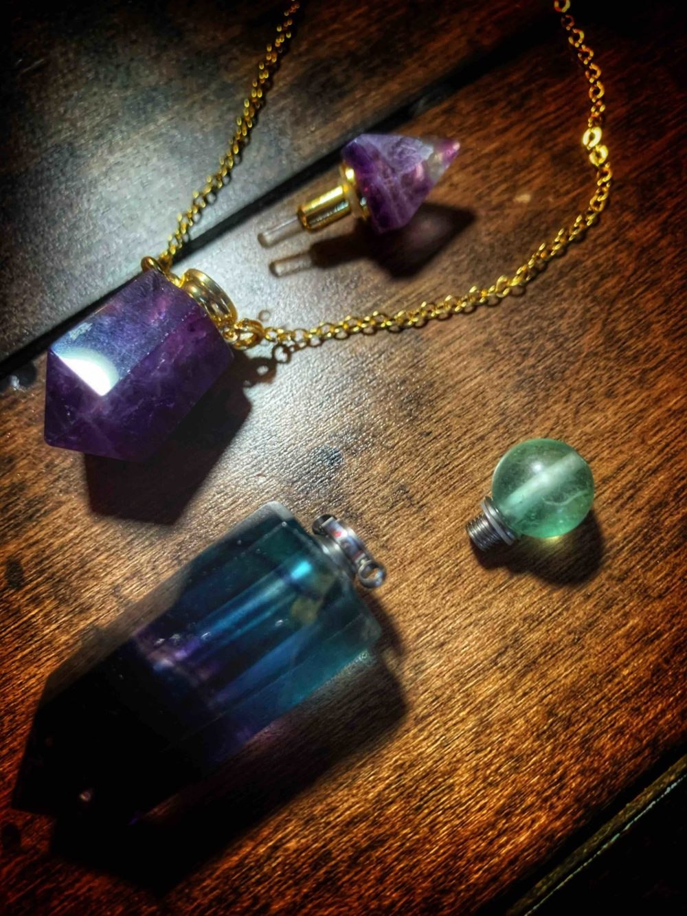 Fluorite Potion Point Amulet