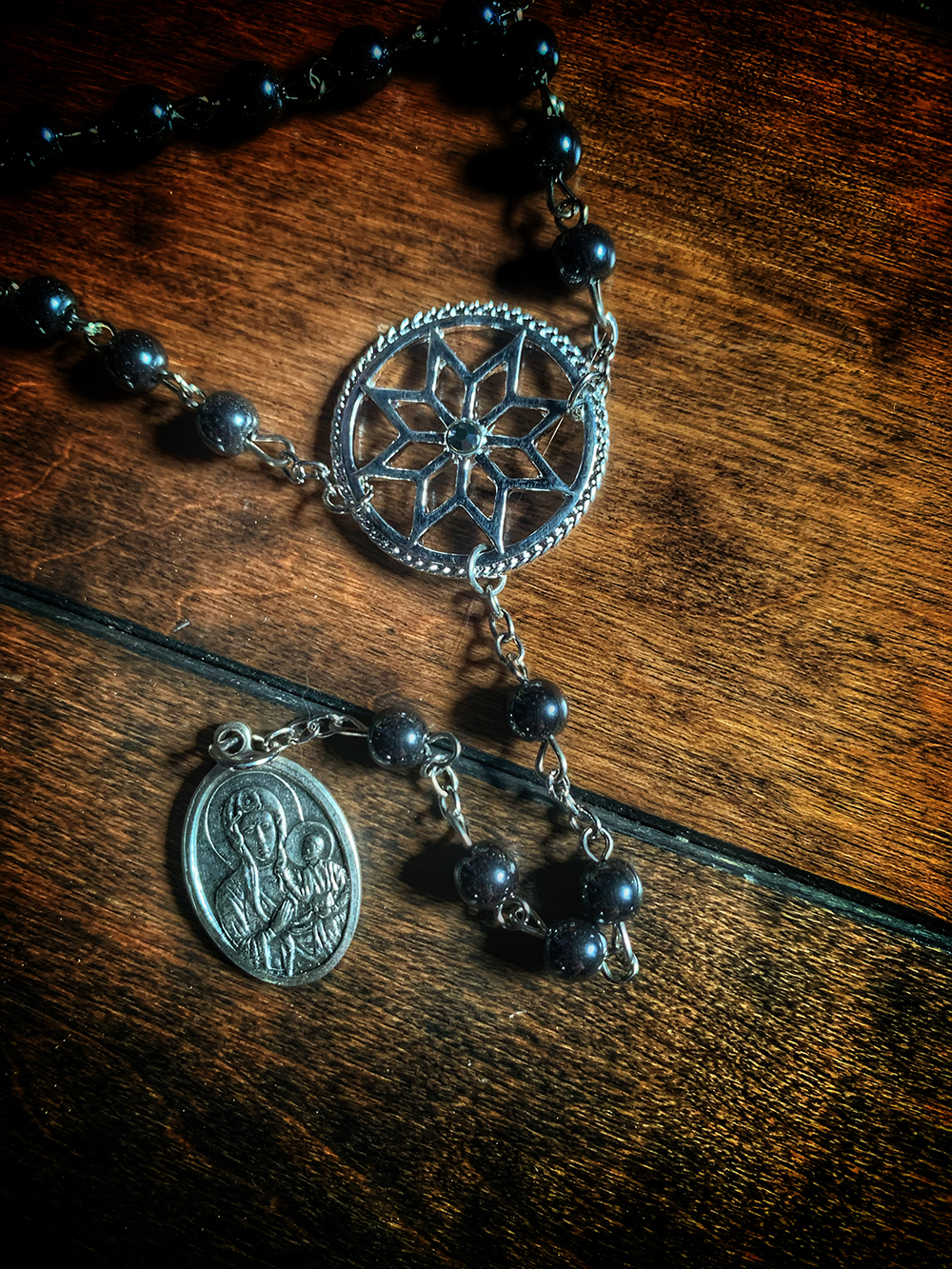 Black Madonna Relic Rosary