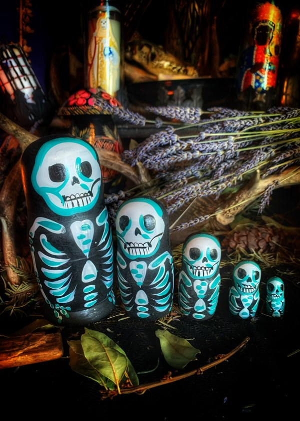 Matryoshka Skelly Spell Doll
