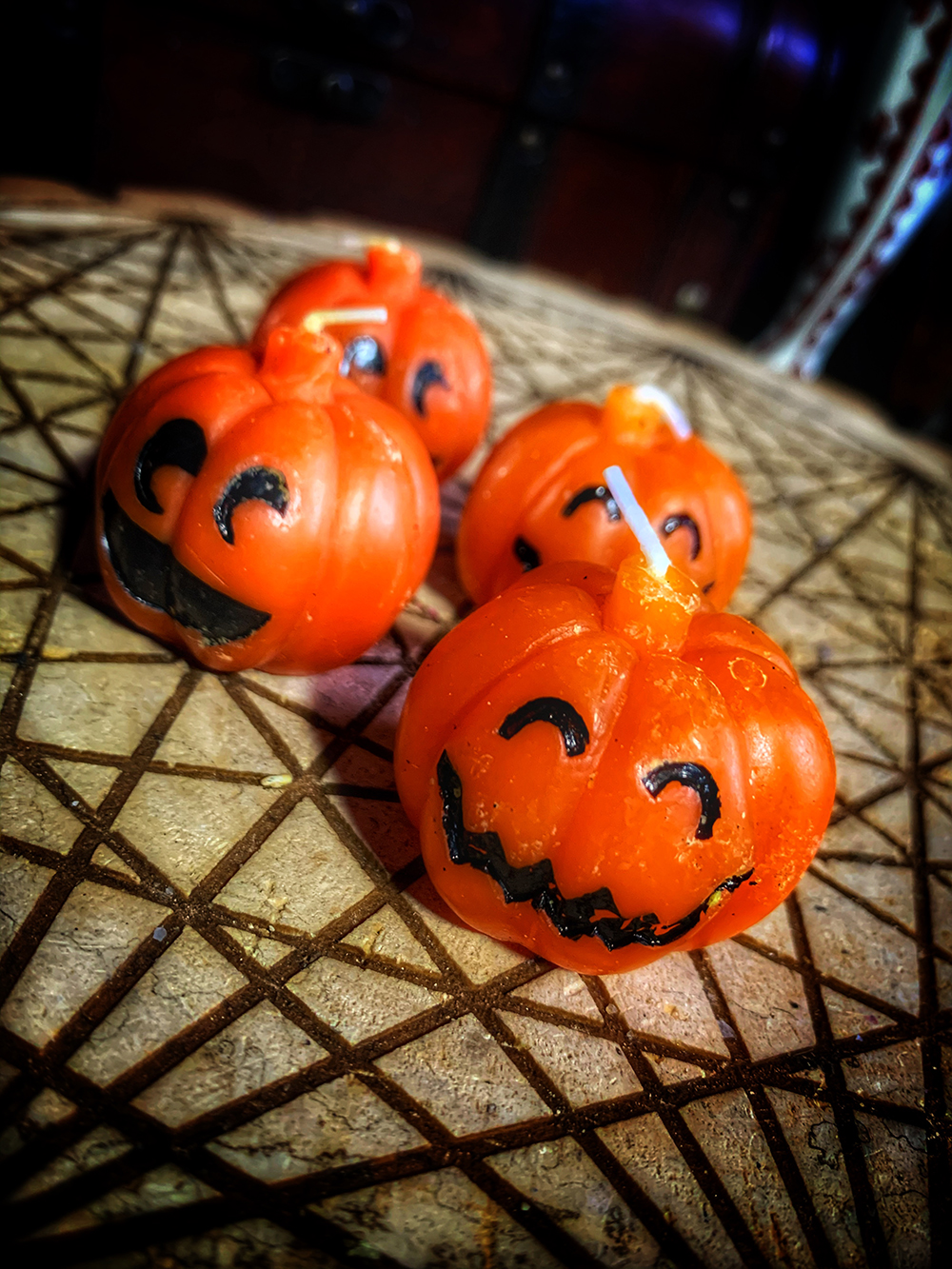 Mini Derpy Pumpkin Tea Light Vintage