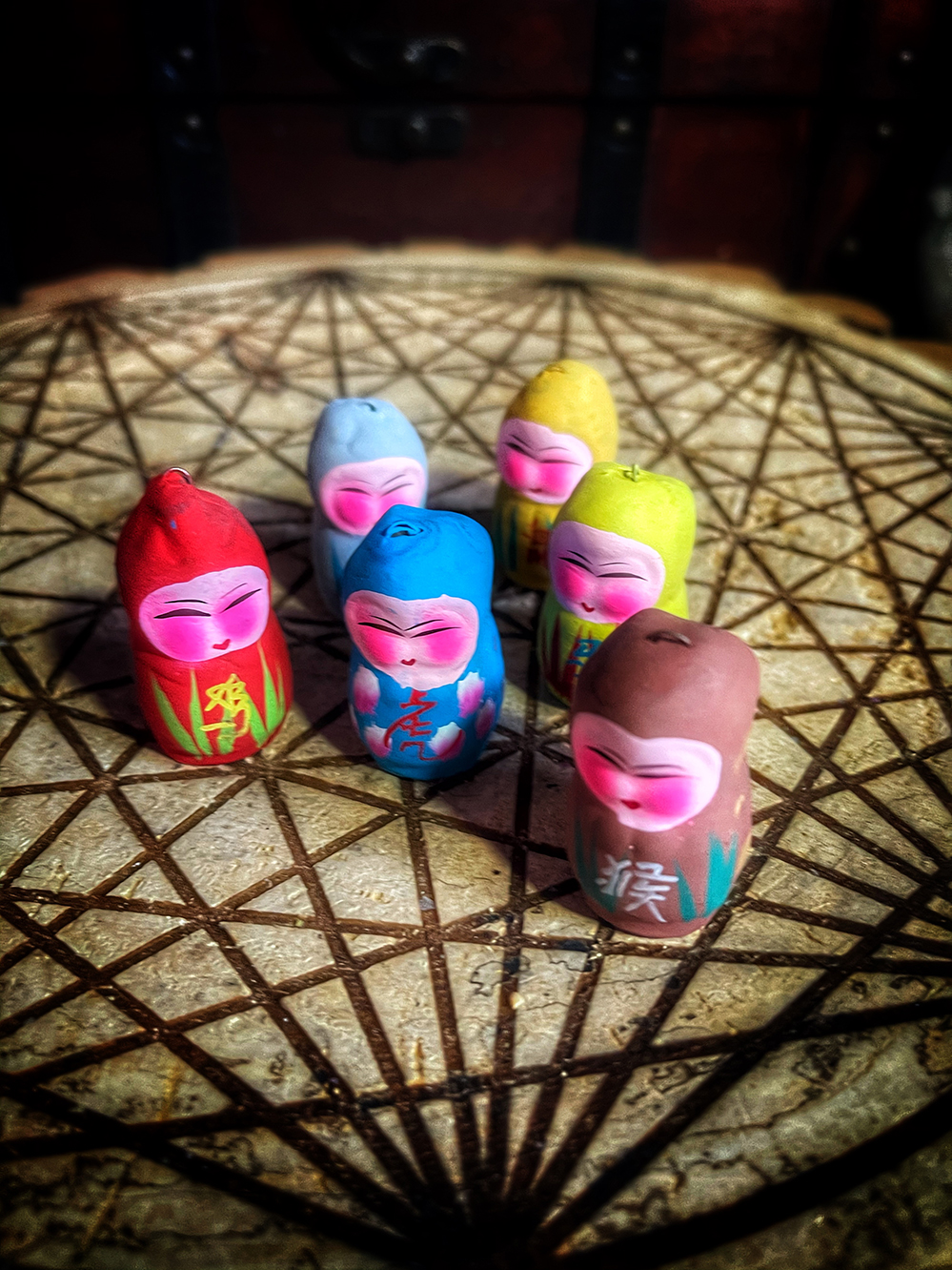 Chinese Zodiac Clay Doll Vintage