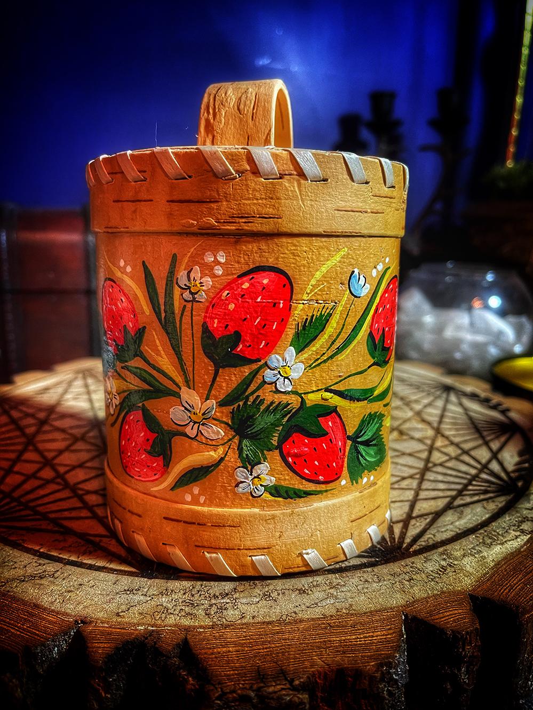 Strawberry Birch Bark Talismanic Container