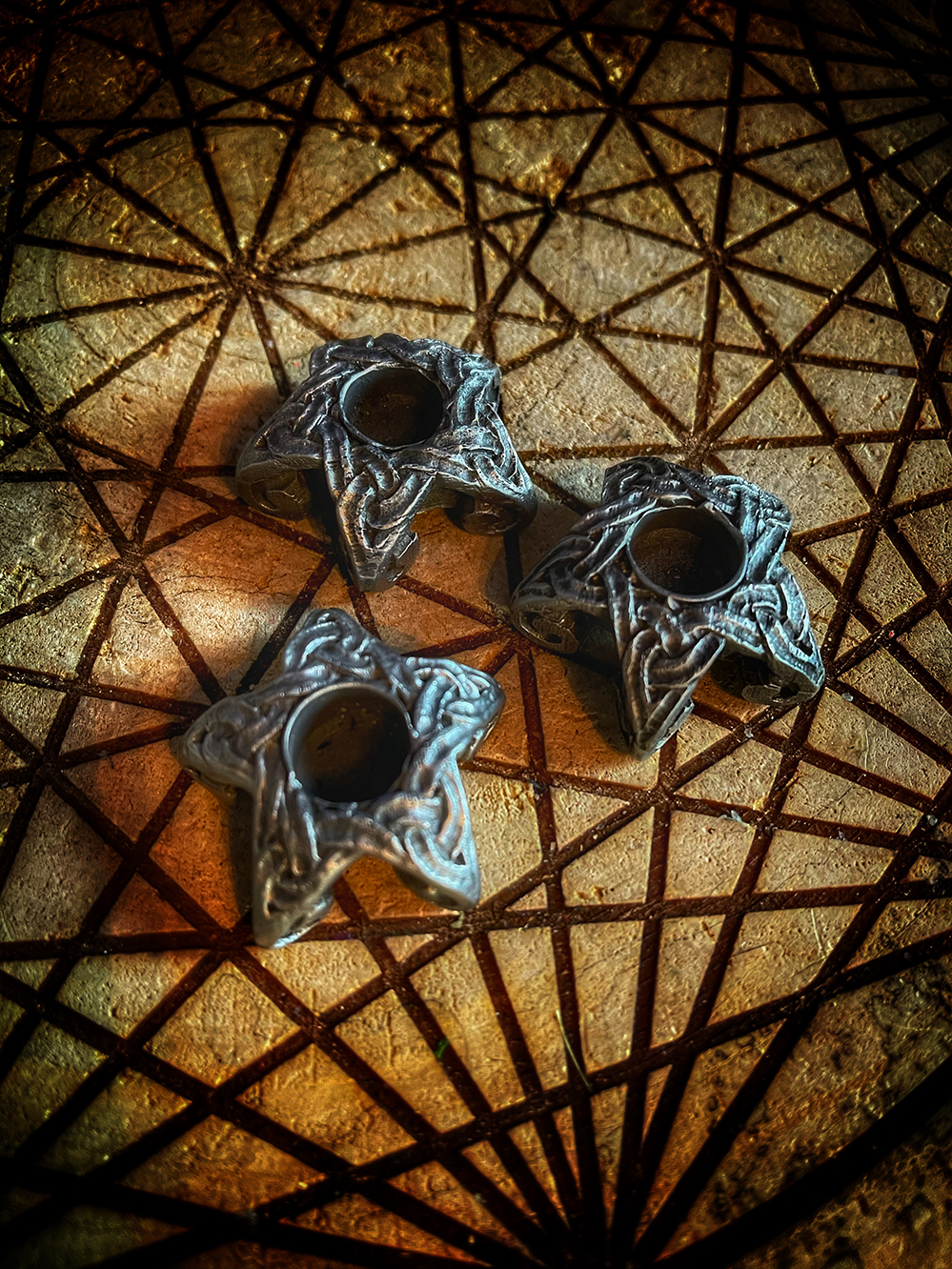 Altar Candle Mini Holder Star 4in