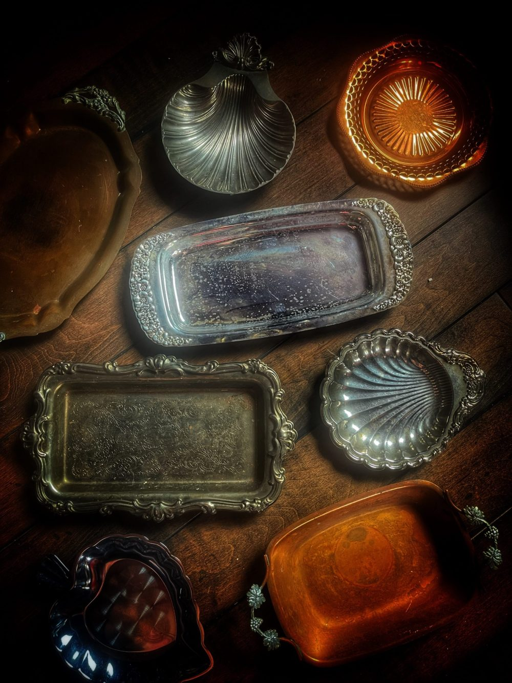 Vintage Brass Ritual Altar Tray