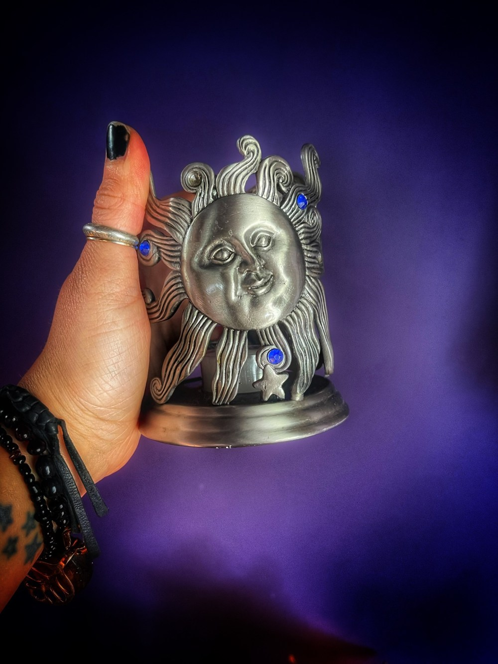 90's Celestial Oil Diffuser Candle Holder