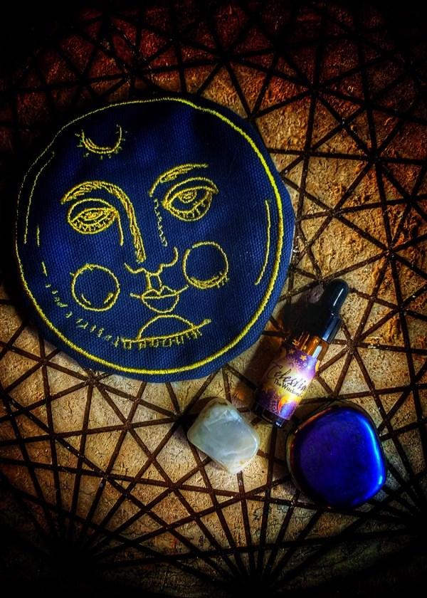 Celestial Moonstone Charm Bag