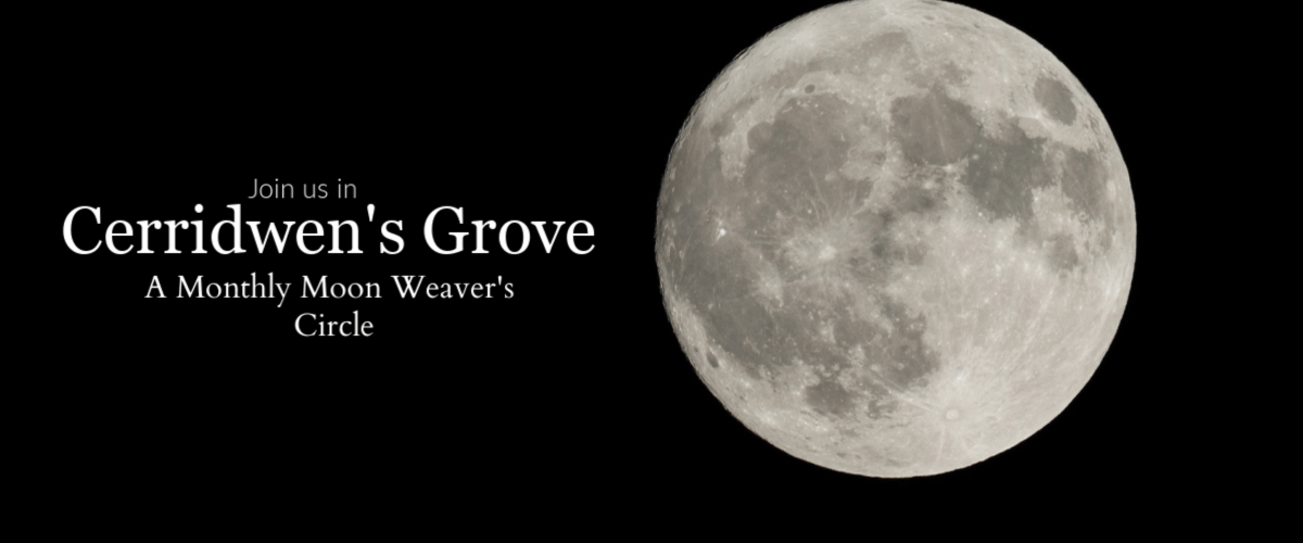 Cerridwen's grove Website banner1200 x 500