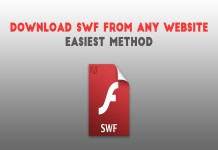 Downlaod swf from website url