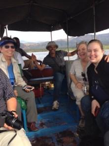 Nature boat trip in Africa