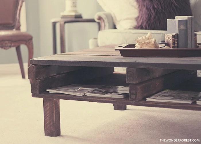 diy rustic pallet coffee table wonder