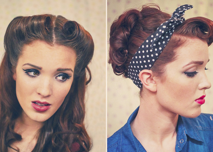 Coiffure Rockabilly Pin Up Coiffure Pinup Victory Rolls