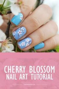 Cherry Blossom Nail Art Tutorial - Wonder Forest