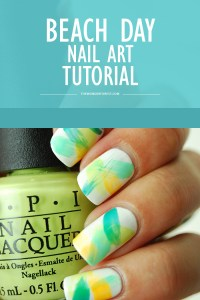 Beach Day Dry Brush Nail Art Tutorial - Wonder Forest