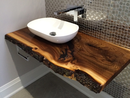 Products Furniture Live Edge Slab Vanity Bar Tops Benches Cubes The Wood Commission