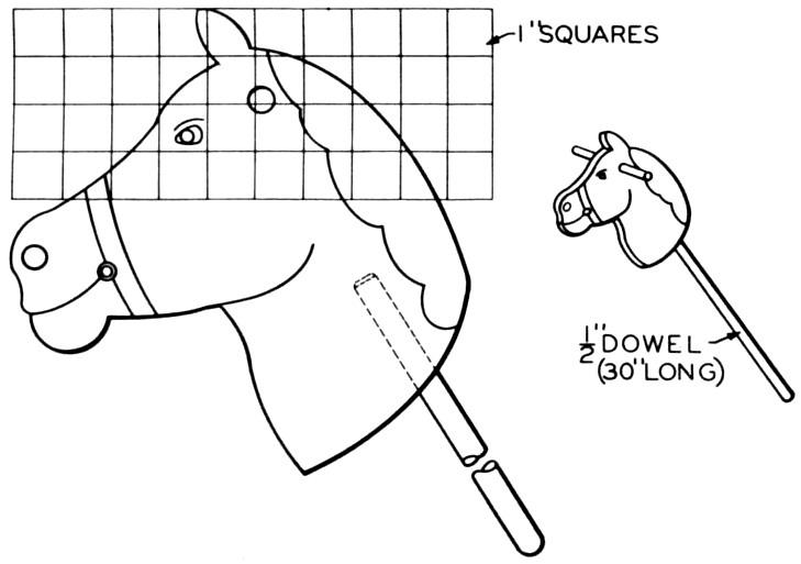 Stick Horse Head Template