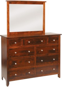 J&M Woodworking Classic Shaker Dresser - The Wooden Chair