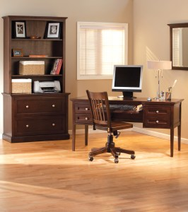 Whittier Wood Furniture Caffe Finish Home Office Suite