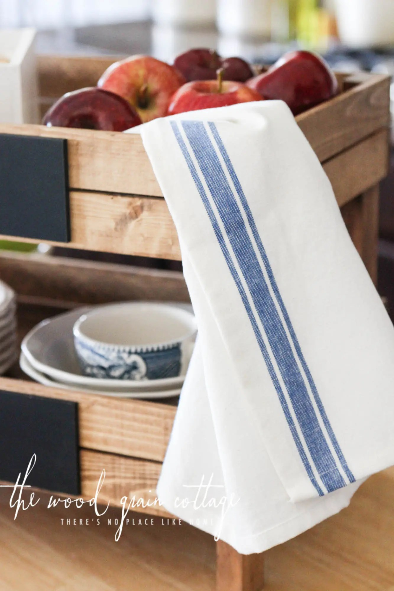 Striped Kitchen Tea Towels  The Wood Grain Cottage Shop