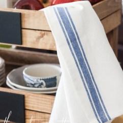 Kitchen Dish Towels Outdoor Fridge Striped Tea - The Wood Grain Cottage Shop