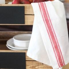 Kitchen Tea Towels Rooster Decor Striped The Wood Grain Cottage Shop