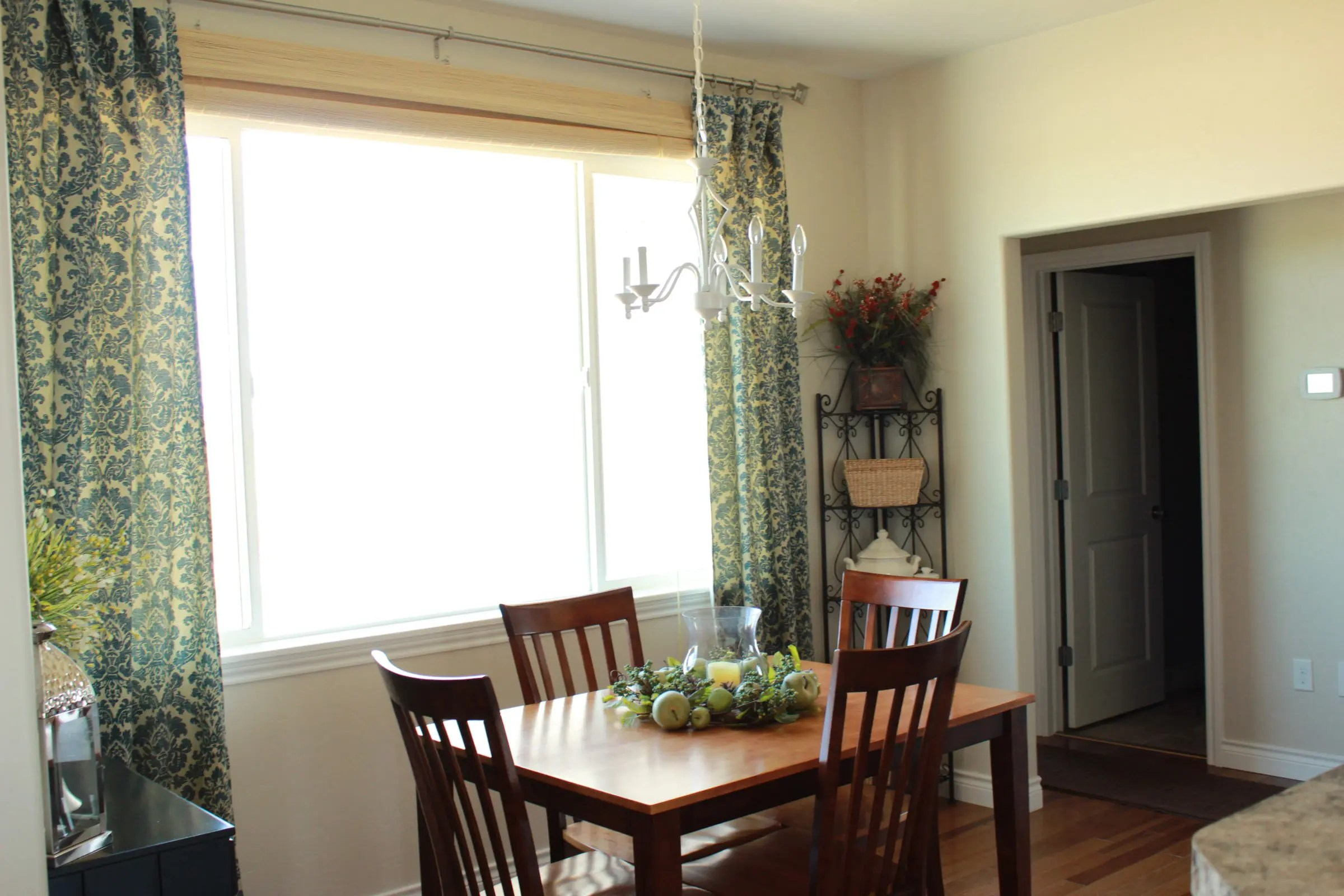 kitchen nook curtains acrylic cabinets breakfast the wood grain cottage