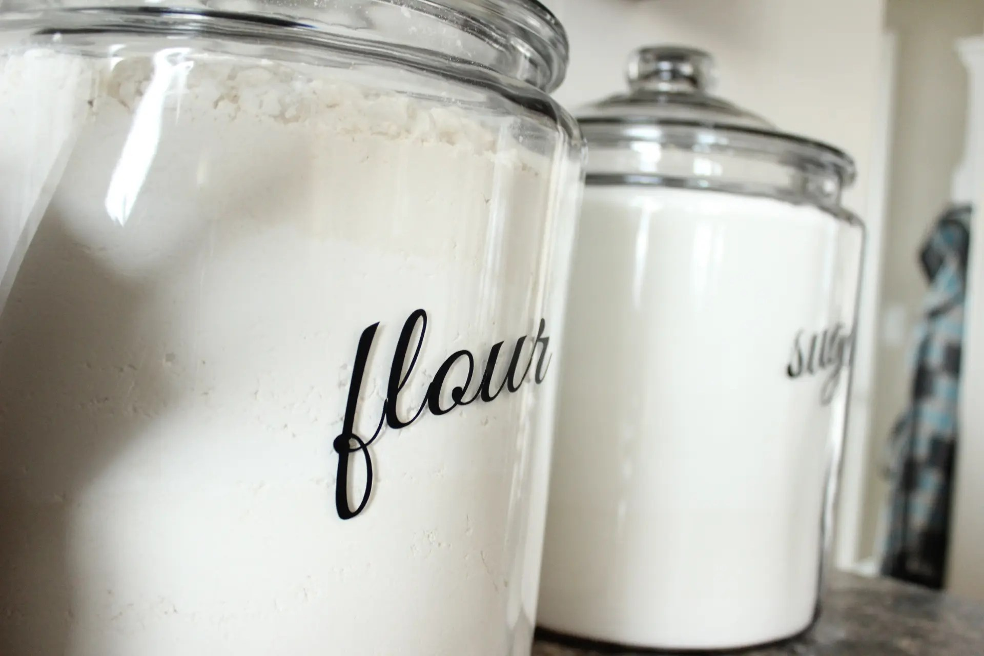 decorative glass jars for kitchen faucets pull down new canisters the wood grain cottage
