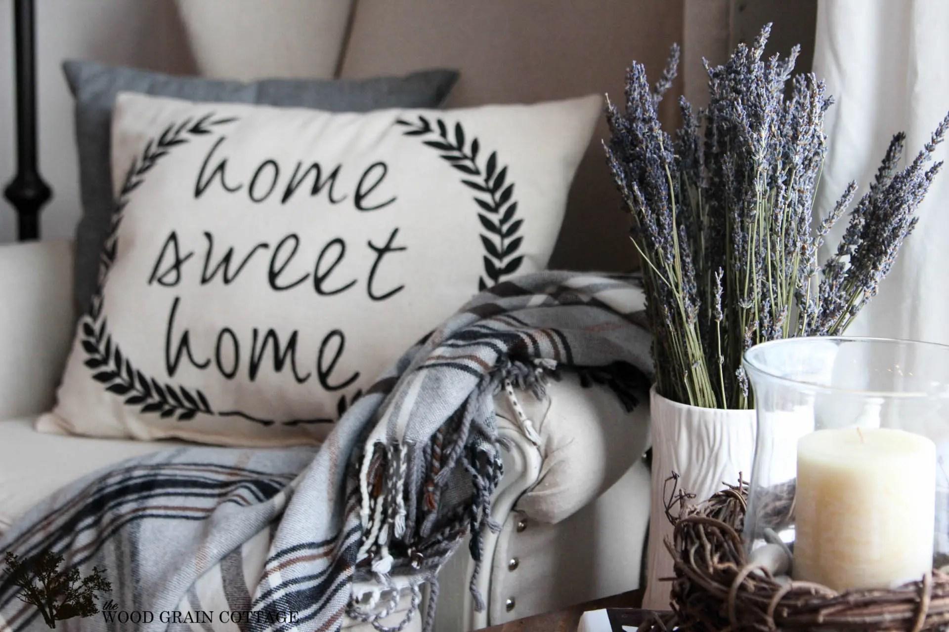 Make a Cottage Farmhouse Home Sweet Home Pillow  Fox
