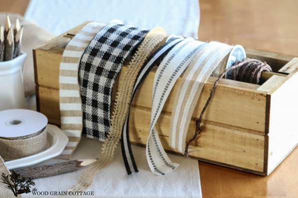 DIY Ribbon Spool by The Wood Grain Cottage