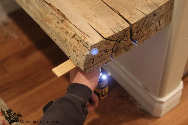 Barn Beam Floating Bench by The Wood Grain Cottage