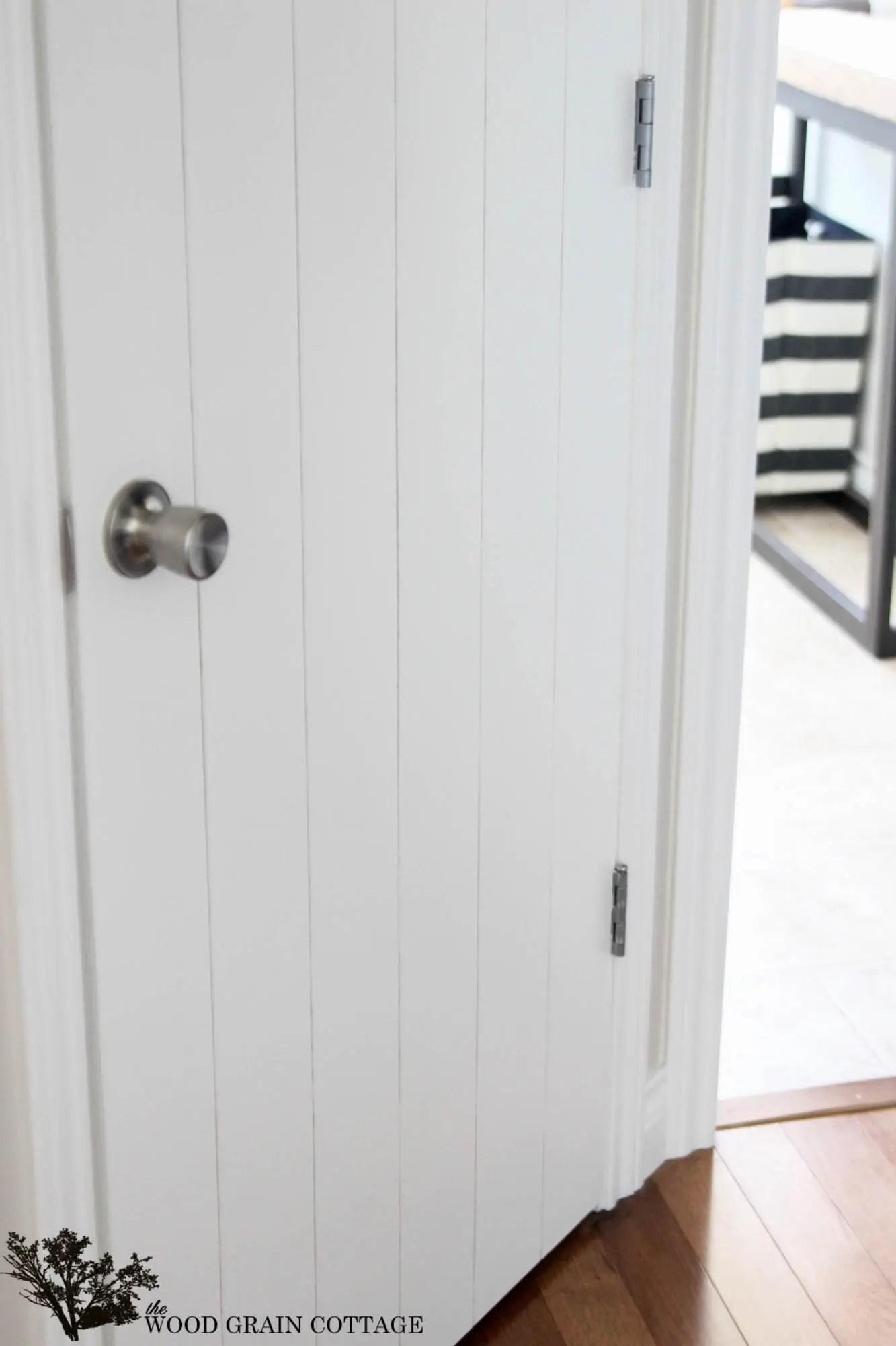 DIY Plank Door by The Wood Grain Cottage & How to Wood Plank a Door - Infarrantly Creative
