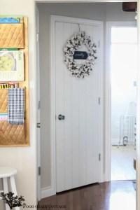 DIY Wood Planked Pantry Door - The Wood Grain Cottage