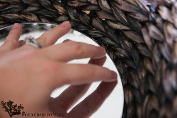 How to a make a DIY Wicker Basket Mirror