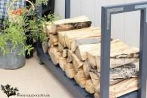 Diy Rolling Firewood Cart - Wood Grain Cottage