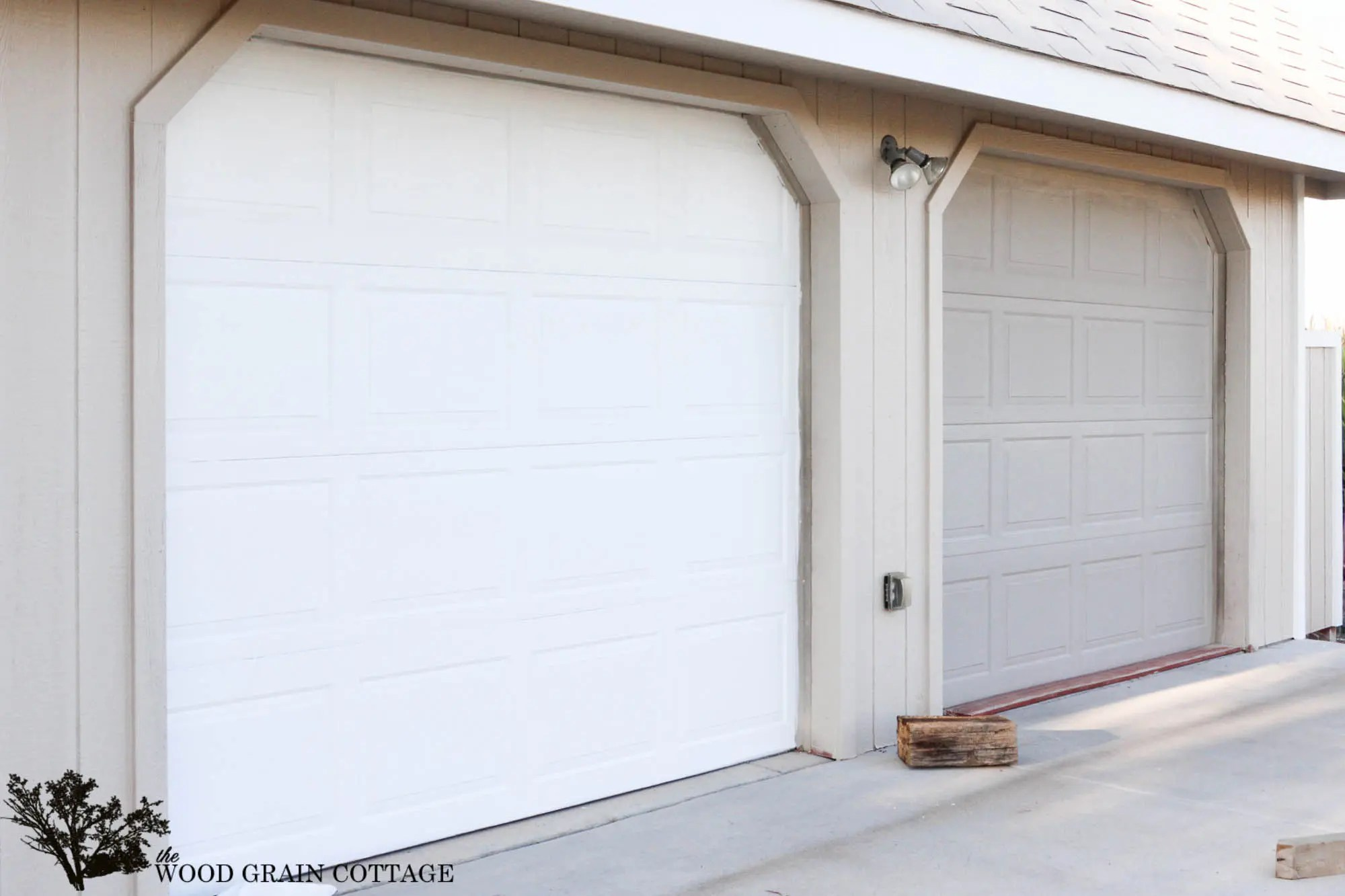 How To Paint Garage Doors Project Curb Appeal  The Wood Grain Cottage