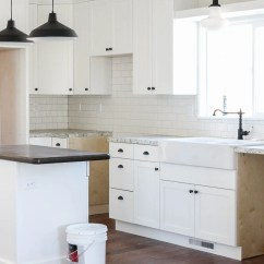 Blue Kitchen Cabinet Knobs Countertops Fixer Upper Update Hardware The Wood Grain Cottage