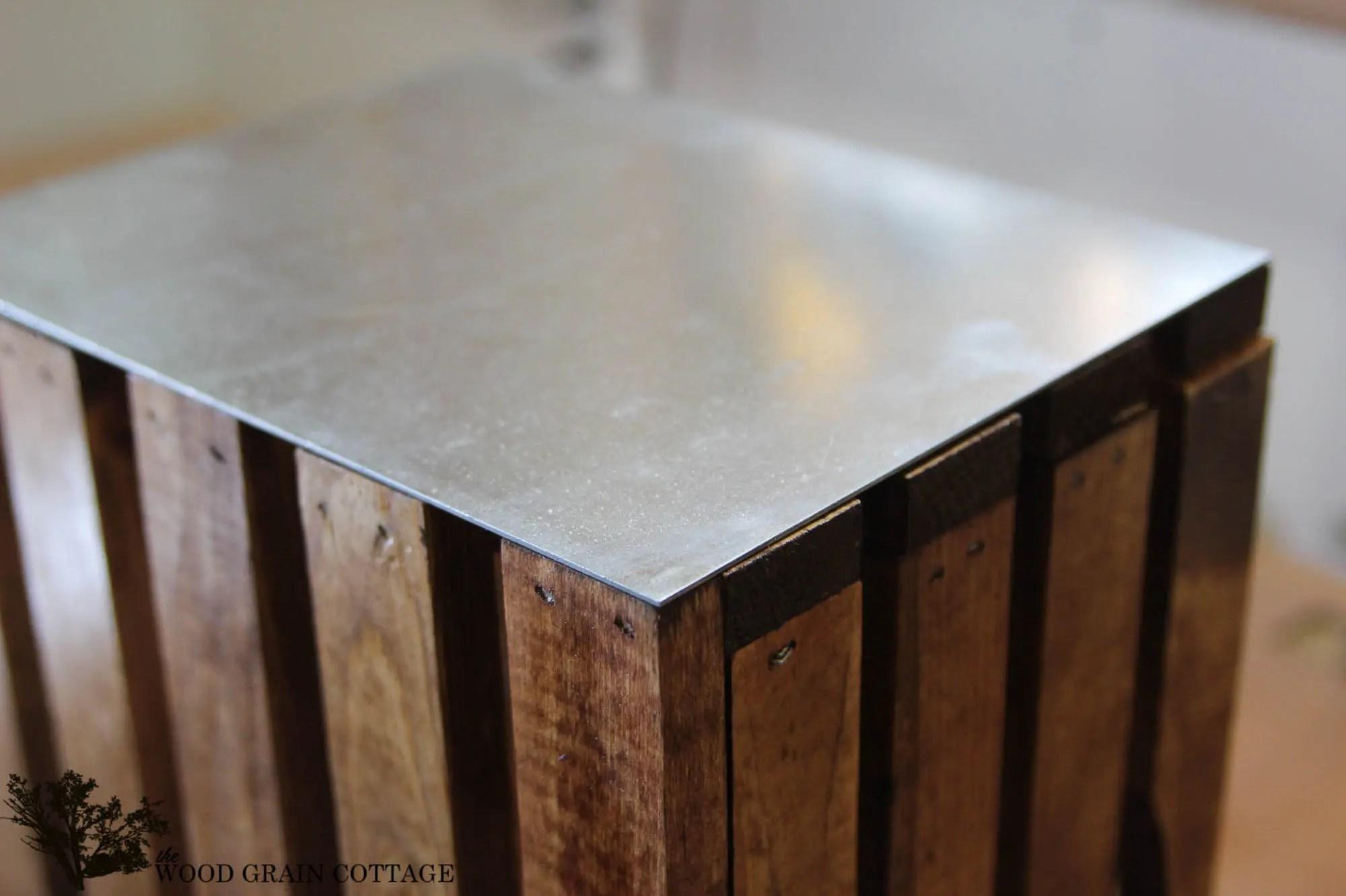 DIY Galvanized Wood Crate