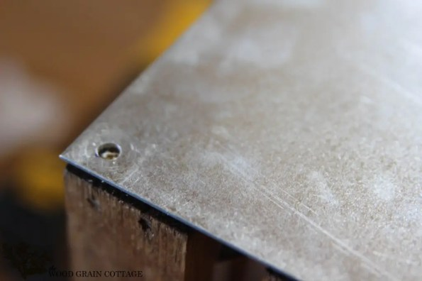 galvanized metal wood crate tutorial