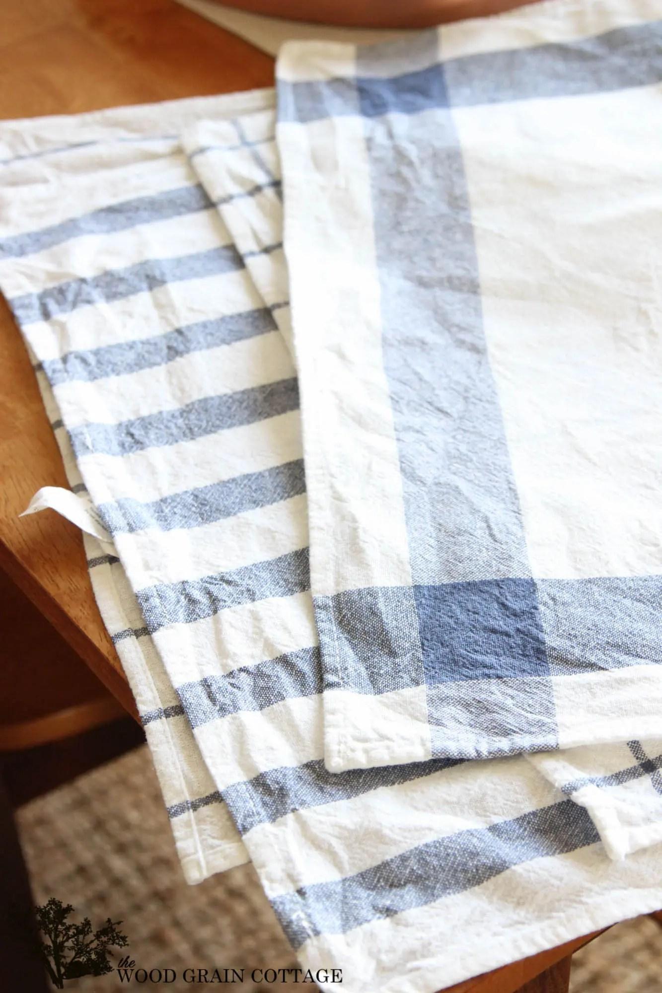 kitchen tea towels amish island diy towel pillows the wood grain cottage