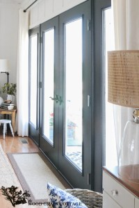 Black French Doors - The Wood Grain Cottage